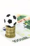 χρήματα ποδοσφαίρου στοκ εικόνες