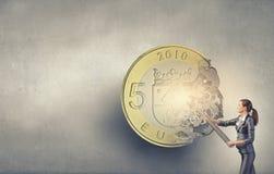 Χρήματα που κάνουν το μηχανισμό Στοκ εικόνα με δικαίωμα ελεύθερης χρήσης