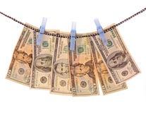 χρήματα που πλένονται Στοκ εικόνα με δικαίωμα ελεύθερης χρήσης