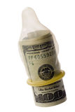 χρήματα προφυλακτικών Στοκ Φωτογραφία