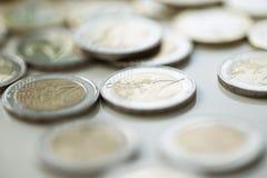 Χρήματα, πόροι χρηματοδότησης ευρώ νομισμάτων στοκ εικόνες