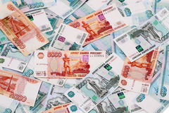 χρήματα Ρωσία ανασκόπησης Στοκ Φωτογραφία