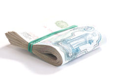 χρήματα ρωσικά μετρητών επετείου Στοκ φωτογραφία με δικαίωμα ελεύθερης χρήσης