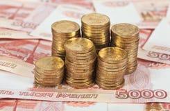 χρήματα ρωσικά στοκ φωτογραφία
