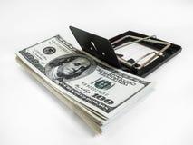 Χρήματα σε μια ποντικοπαγήδα Στοκ Εικόνες