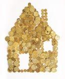 χρήματα σπιτιών Στοκ φωτογραφίες με δικαίωμα ελεύθερης χρήσης