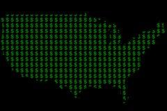 Χρήματα στην Αμερική Στοκ εικόνα με δικαίωμα ελεύθερης χρήσης