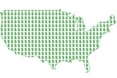 Χρήματα στην Αμερική Στοκ φωτογραφία με δικαίωμα ελεύθερης χρήσης