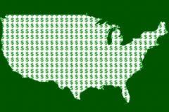 Χρήματα στην Αμερική Στοκ Εικόνες