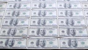 Χρήματα στον πίνακα απόθεμα βίντεο