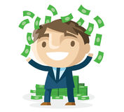 Χρήματα στο γραφείο Στοκ Εικόνες
