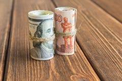 Χρήματα στο γραφείο Στοκ εικόνα με δικαίωμα ελεύθερης χρήσης