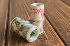 Χρήματα στο γραφείο Στοκ Εικόνα