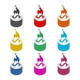 Χρήματα στο εικονίδιο πυρκαγιάς, σημάδι, λογότυπο, σύνολο χρώματος απεικόνιση αποθεμάτων