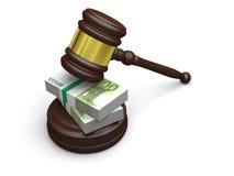 Χρήματα στο νόμο διανυσματική απεικόνιση