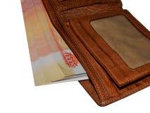 Χρήματα στο πορτοφόλι σας σε 5.000 ρούβλια Στοκ φωτογραφία με δικαίωμα ελεύθερης χρήσης