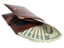 Χρήματα στο πορτοφόλι Στοκ φωτογραφίες με δικαίωμα ελεύθερης χρήσης