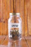 Χρήματα στο σύνολο γυαλιού των νομισμάτων Στοκ Φωτογραφίες