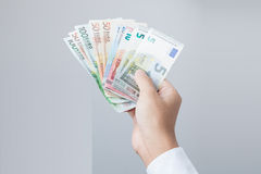 Χρήματα στο χέρι στοκ εικόνες