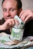 χρήματα σωρών Στοκ Φωτογραφίες