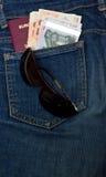 Χρήματα ταξιδιού Στοκ Εικόνα