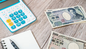 Χρήματα της Ιαπωνίας - ιαπωνικό νόμισμα γεν Στοκ Εικόνες