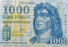 Χρήματα της Ουγγαρίας 1000 forint μακροεντολή Στοκ φωτογραφία με δικαίωμα ελεύθερης χρήσης