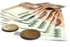 Χρήματα της Ταϊλάνδης μπατ Στοκ Φωτογραφίες