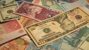 Χρήματα του κόσμου απόθεμα βίντεο