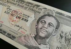 Χρήματα τραπεζογραμματίων εγγράφου της Αιθιοπίας Στοκ εικόνα με δικαίωμα ελεύθερης χρήσης