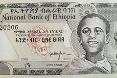 Χρήματα τραπεζογραμματίων εγγράφου της Αιθιοπίας Στοκ Εικόνες