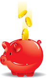 χρήματα τραπεζών piggy εκτός από &ta Στοκ Εικόνες