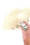 χρήματα τροφίμων Στοκ φωτογραφία με δικαίωμα ελεύθερης χρήσης