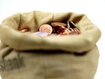 χρήματα τσαντών πλήρως Στοκ φωτογραφία με δικαίωμα ελεύθερης χρήσης