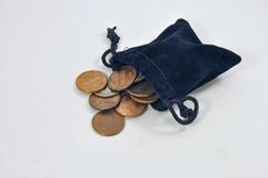χρήματα τσαντών Στοκ Εικόνα