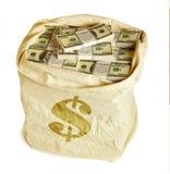 χρήματα τσαντών Στοκ Εικόνες