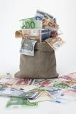 χρήματα τσαντών Στοκ εικόνα με δικαίωμα ελεύθερης χρήσης