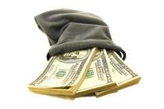 χρήματα τσαντών Στοκ Φωτογραφίες
