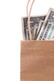 χρήματα τσαντών Στοκ φωτογραφίες με δικαίωμα ελεύθερης χρήσης