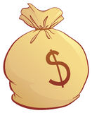 χρήματα τσαντών Στοκ εικόνες με δικαίωμα ελεύθερης χρήσης