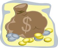 χρήματα τσαντών διανυσματική απεικόνιση
