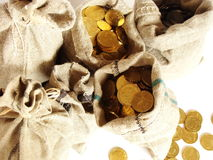 χρήματα τσαντών Στοκ Φωτογραφία