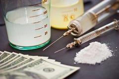 χρήματα φαρμάκων Στοκ Εικόνες