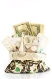 χρήματα φαρμάκων Στοκ φωτογραφία με δικαίωμα ελεύθερης χρήσης