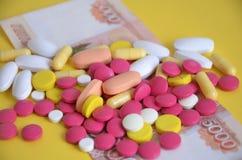 χρήματα φαρμάκων Στοκ φωτογραφίες με δικαίωμα ελεύθερης χρήσης