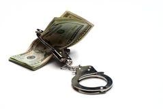 χρήματα χειροπεδών Στοκ εικόνες με δικαίωμα ελεύθερης χρήσης