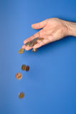 χρήματα χεριών Στοκ Φωτογραφίες