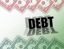 χρήματα χρέους Στοκ Εικόνες
