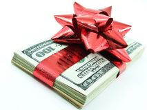 χρήματα Χριστουγέννων Στοκ εικόνες με δικαίωμα ελεύθερης χρήσης
