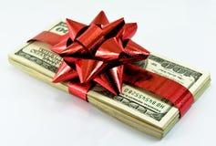 χρήματα Χριστουγέννων Στοκ φωτογραφία με δικαίωμα ελεύθερης χρήσης